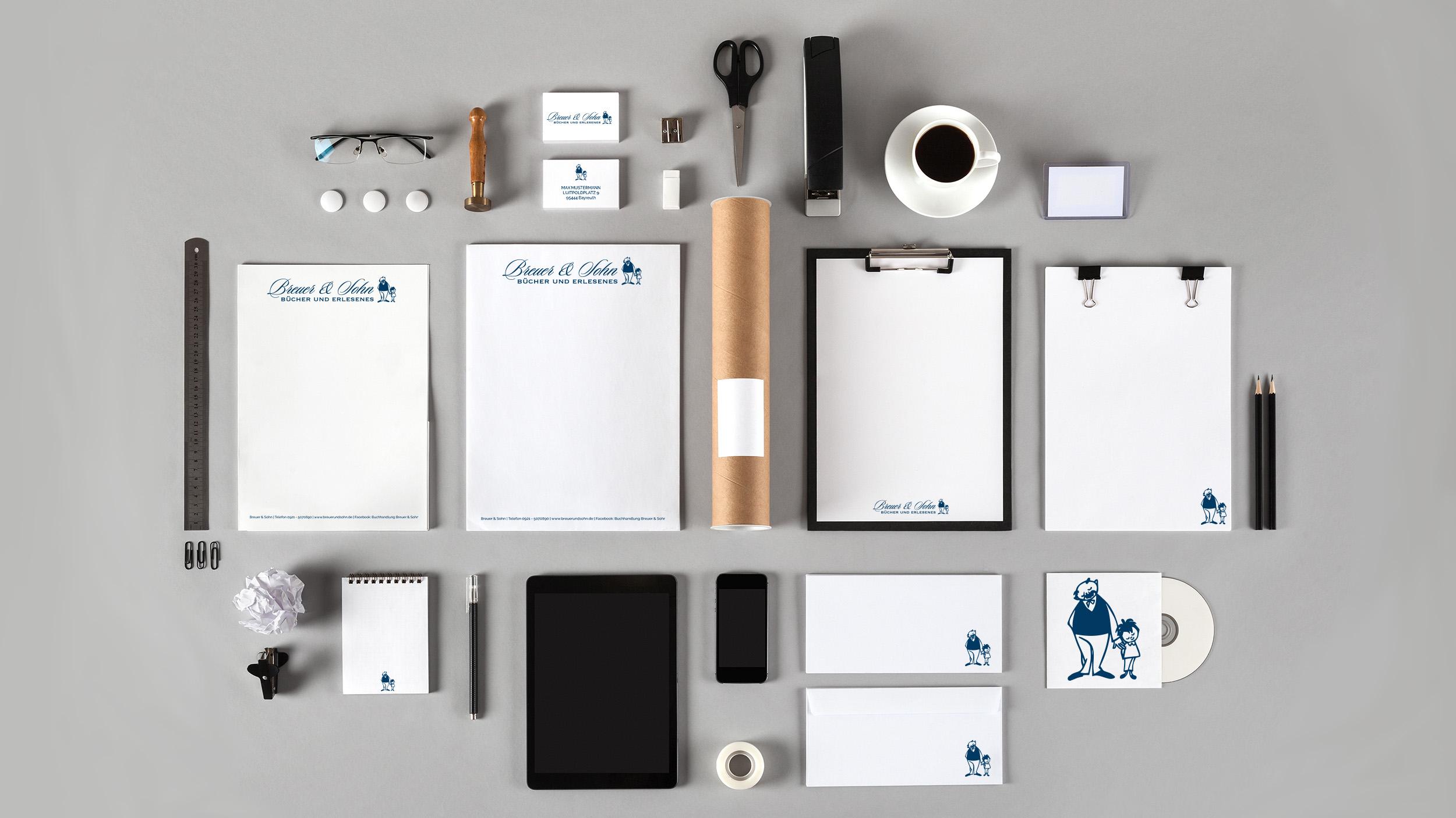 Breuer & Sohn - Buchhandlung - Papeterieboutique - Grußkarten - Einladungskarten - Visitenkarten - Briefbögen - Geschäftspapier - Flyer - Design