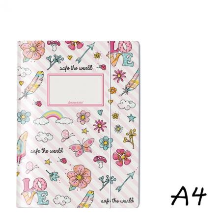 Bayreuth Buchhandlung Krima und Isa Sammelmappe A4 Flowerpower